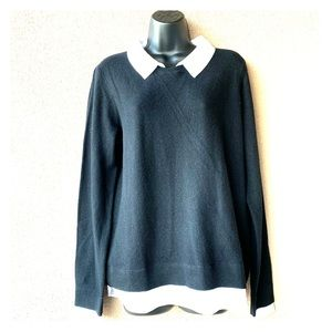 Joie Rika Lawyer Effect Cashmere/Wool Sweater